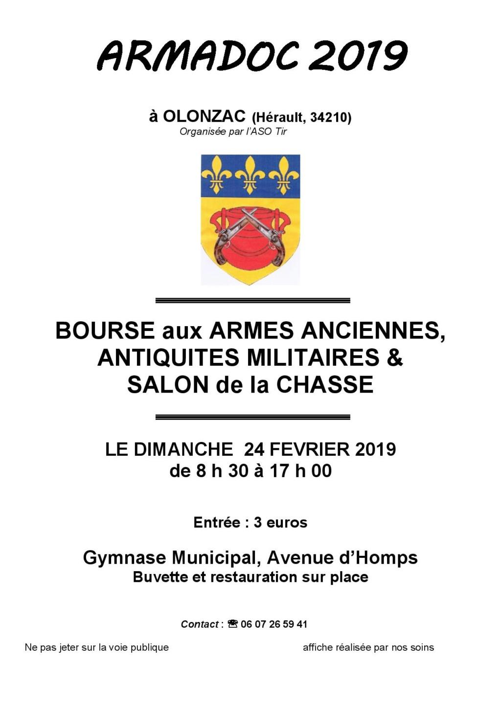 """Bourse Olonzac """"34"""" Dimanche 24 février 2019 Affich10"""