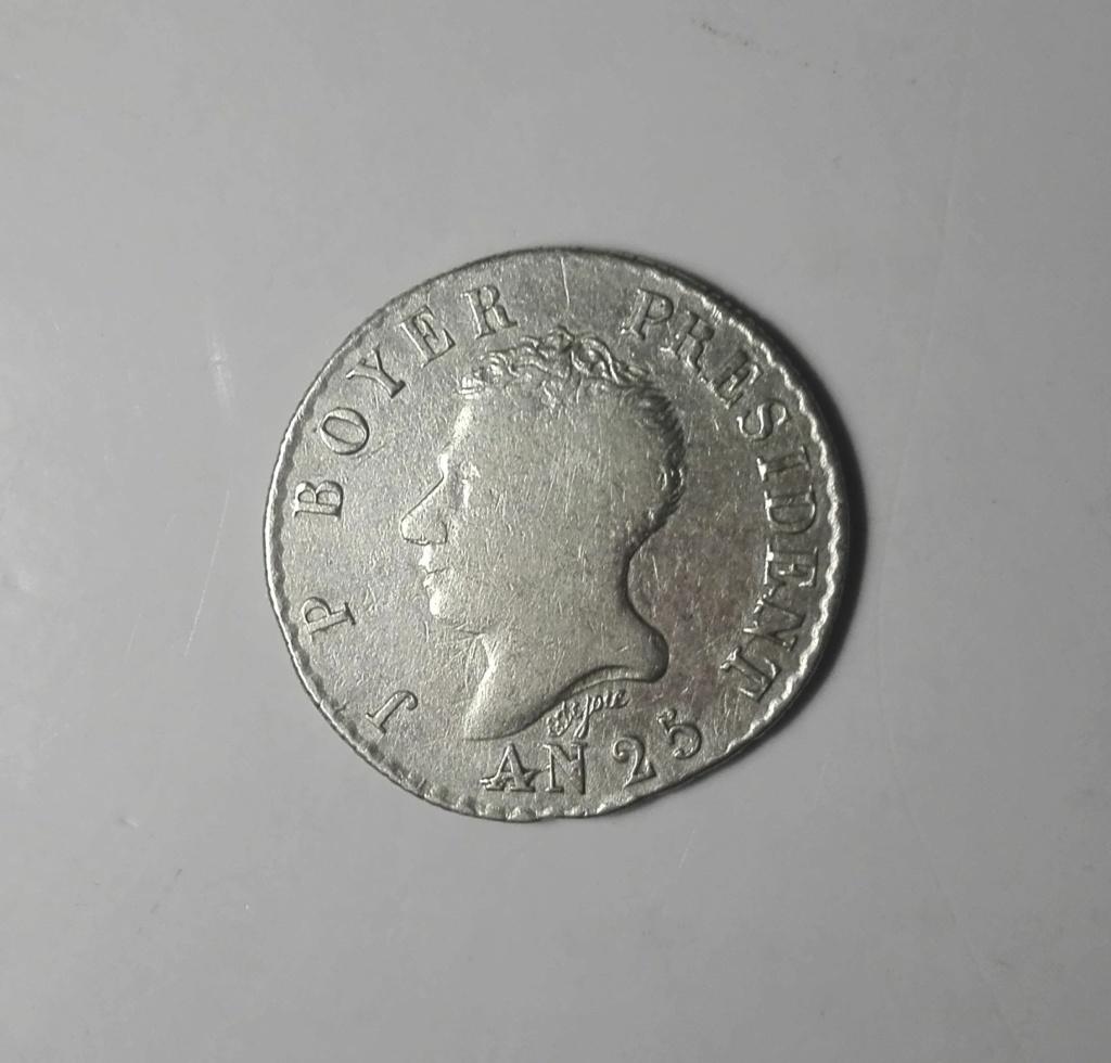 Haití. 50 centimes. 1828. President J. P. Boyer. An 25. Img_2012