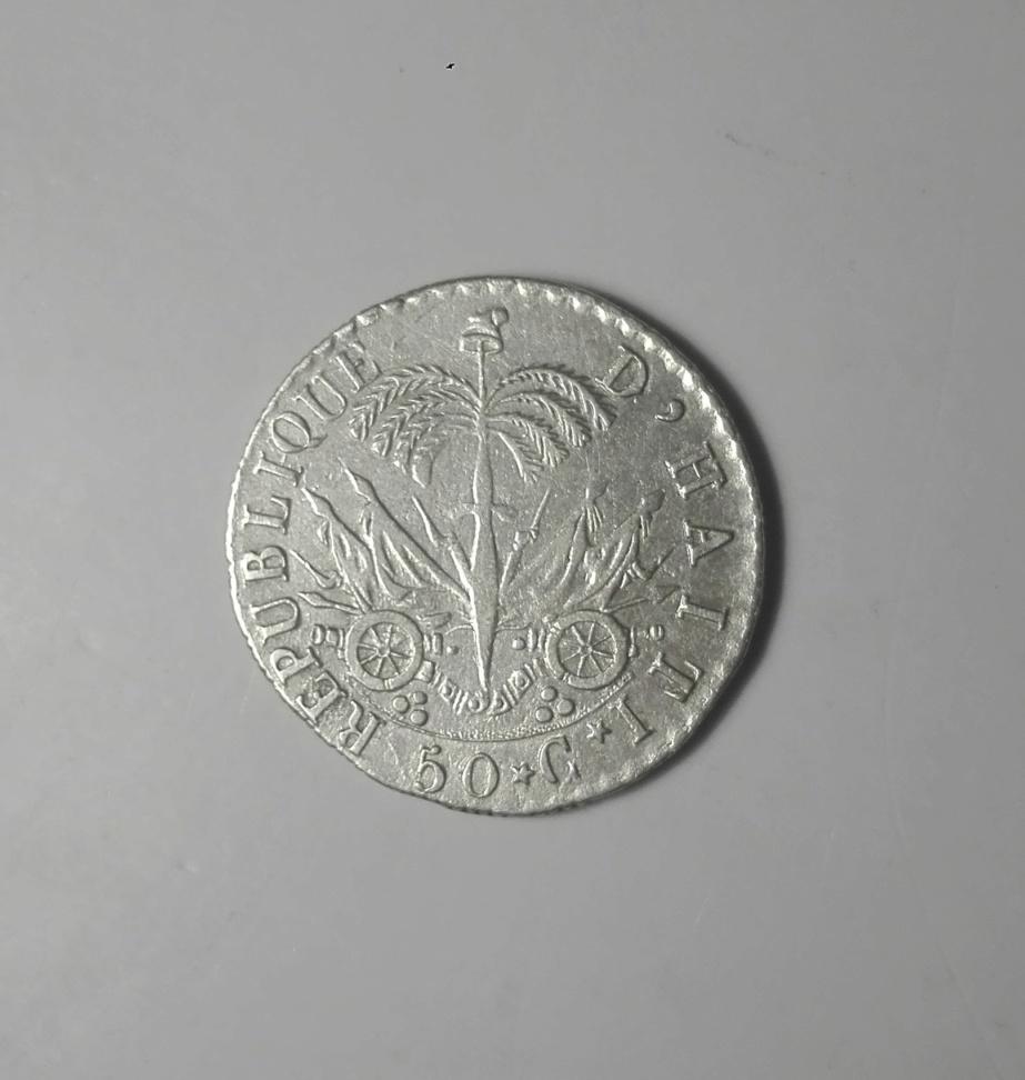 Haití. 50 centimes. 1828. President J. P. Boyer. An 25. Img_2013