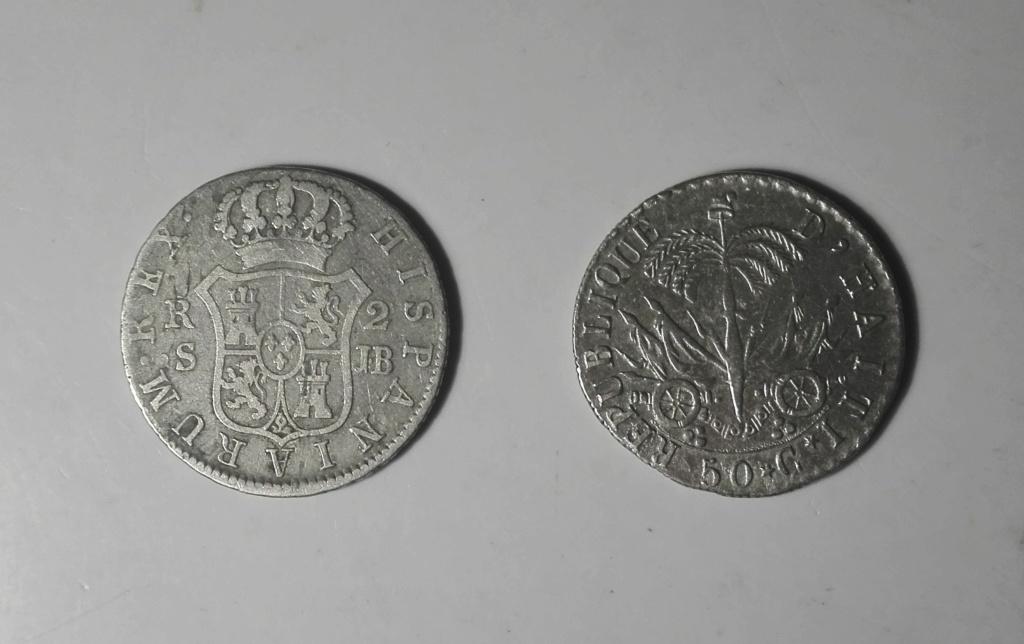 Haití. 50 centimes. 1828. President J. P. Boyer. An 25. Img_2017