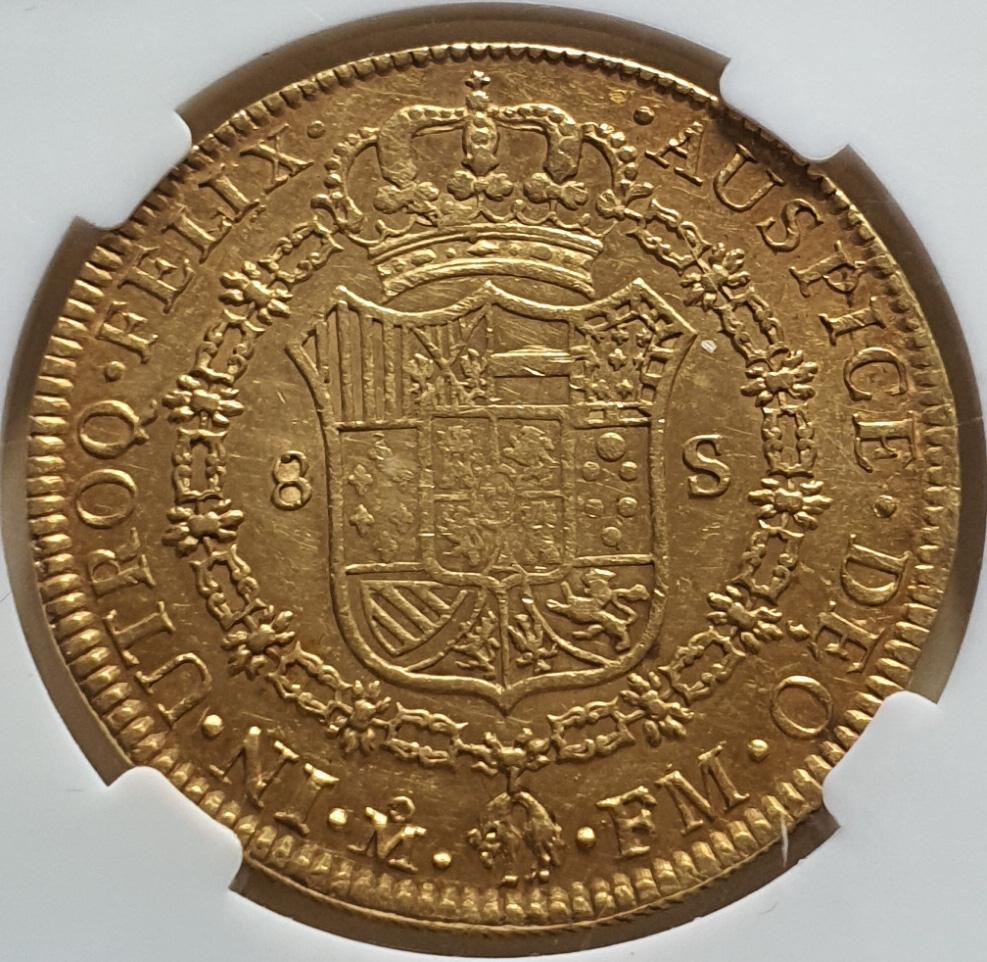 CARLOS IV.1802.8 ESCUDOS.MEJICO.MºFM 1789_813