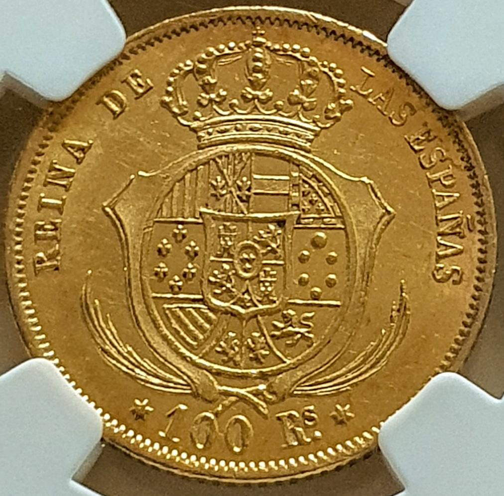 1859.SPAIN.G100R.MADRID.ISABEL II. 1859b_10
