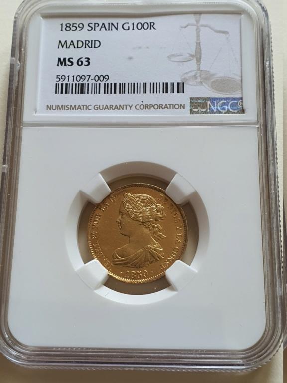 1859.SPAIN.G100R.MADRID.ISABEL II. 1859c10