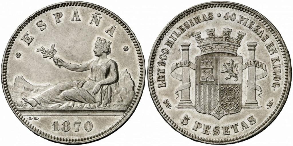 5 pesetas 1870 187010