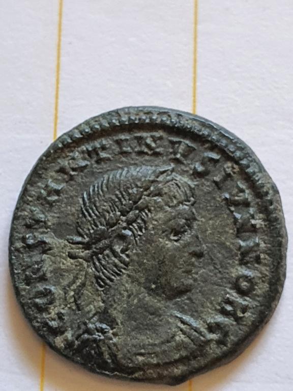 AE3 de Constantino II. GLORIA EXERCITVS. Cycico  20200918