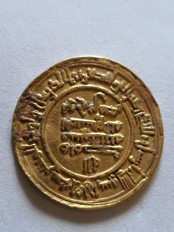 Dinar Samaní, Nuh b. Nasr, 333 H, Nishapur, cita al califa abassí al-Mustakfí 20201012