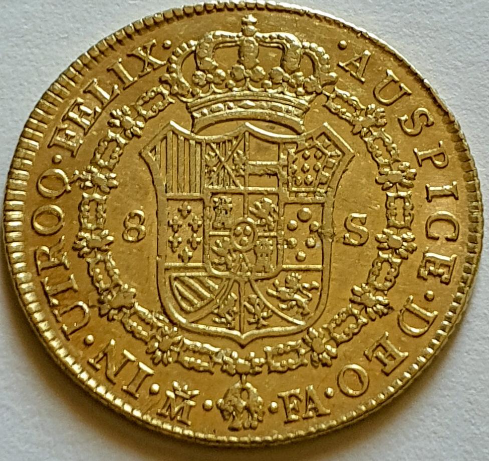 CARLOS IV.1802.8 ESCUDOS.MADRID. Carlos10