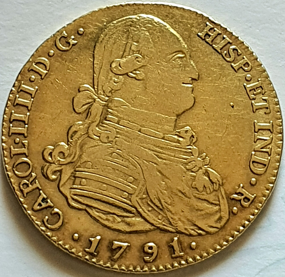 CARLOS IV.1791.4 ESCUDOS.MADRID. Carlos11