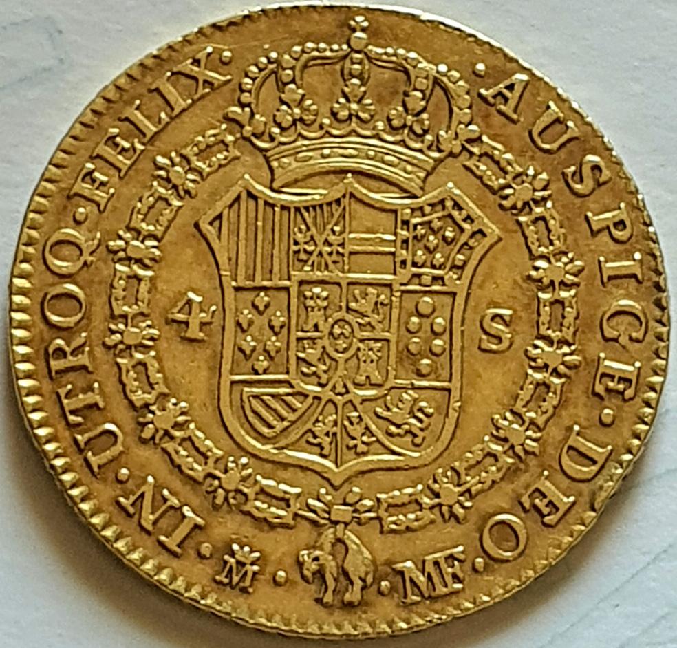 CARLOS IV.1791.4 ESCUDOS.MADRID. Carlos12