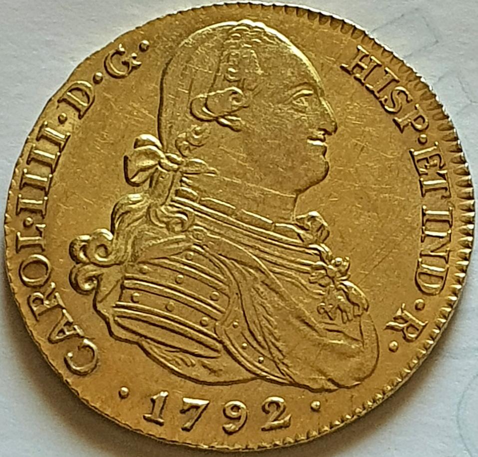 CARLOS IV.1792.4 ESCUDOS.MADRID. Carlos13
