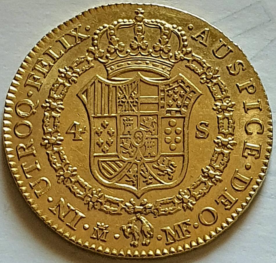 CARLOS IV.1792.4 ESCUDOS.MADRID. Carlos14