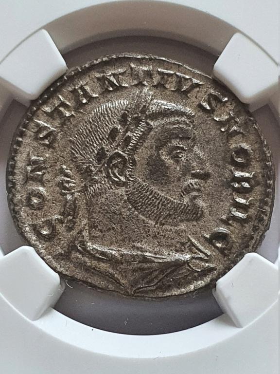 Nummus de Constancio I Cloro. GENIO POPVLI ROMANI. Trier Consta10