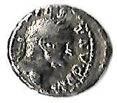 Denario de Vespasiano. TRI POT II COS III P P. Pax  Denari10