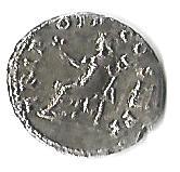 Denario de Vespasiano. TRI POT II COS III P P. Pax  Denari11