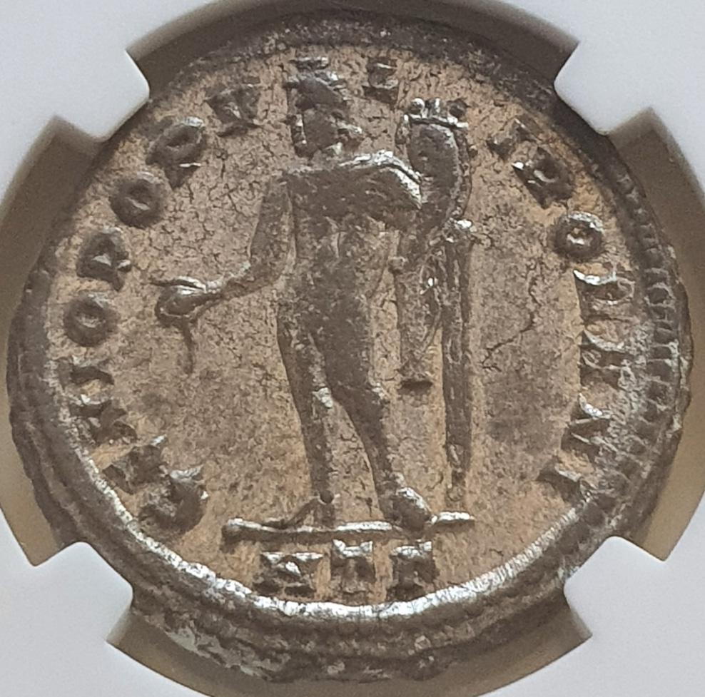 Nummus de Galerio. GENIO POPVLI ROMANI. Heraclea Galeri11