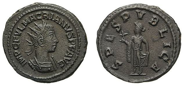 Antoniniano de Macriano. SPES PVBLICA. Antioquía Macria10