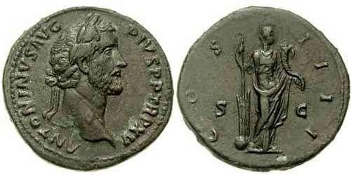 Sestercio de Antonino Pío. COS IIII /S C. Fortuna Ric_0810