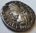 Denario del Tributo (Tiberio). PONTIF MAXIM. Lyon 12510