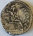 Denario del Tributo (Tiberio). PONTIF MAXIM. Lyon 12610