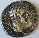 Denario del Tributo (Tiberio). PONTIF MAXIM. Lyon 12710
