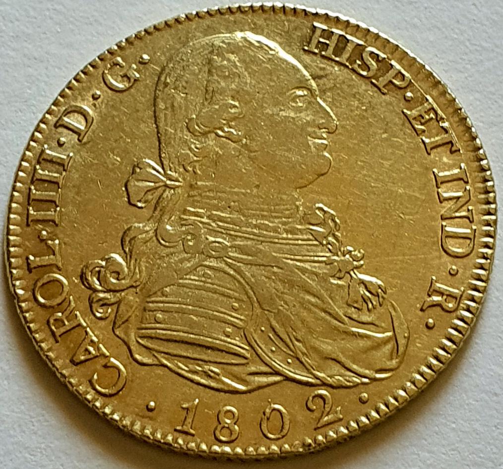 CARLOS IV.1802.8 ESCUDOS.MADRID. Varlos10