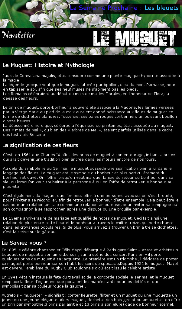 Newsletter 17 - Les Fleurs : Le Muguet Muguet10