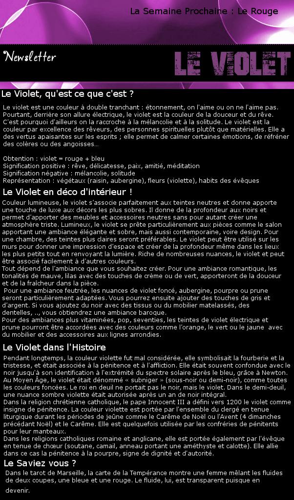 Newsletter 3 - Les couleurs : Le Violet Violet10