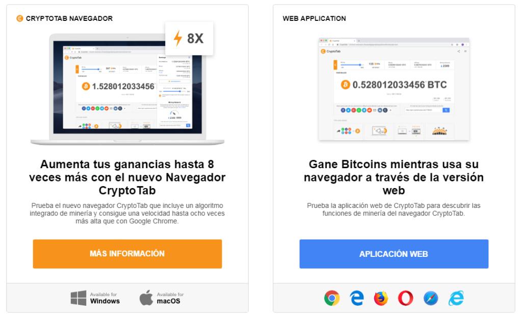 CryptoTap - Gana Bitcoin gratis sin esfuerzo solo navegando Crypto10
