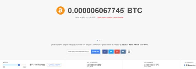 CryptoTap - Gana Bitcoin gratis sin esfuerzo solo navegando Funcio11