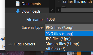 Save As... JPG/PNG/BMP in Context Menu of a Stickie 1059_b10