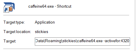 How do I make Caffeine active for 72 hours? 133310
