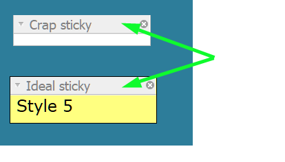 How to modify font sizes for the stack title bars ? 32410