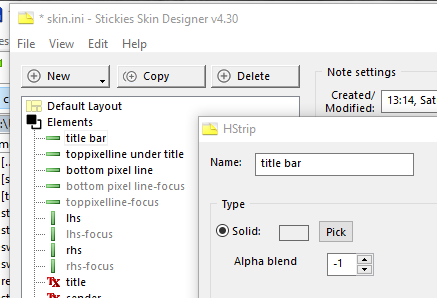 How to modify font sizes for the stack title bars ? 32910
