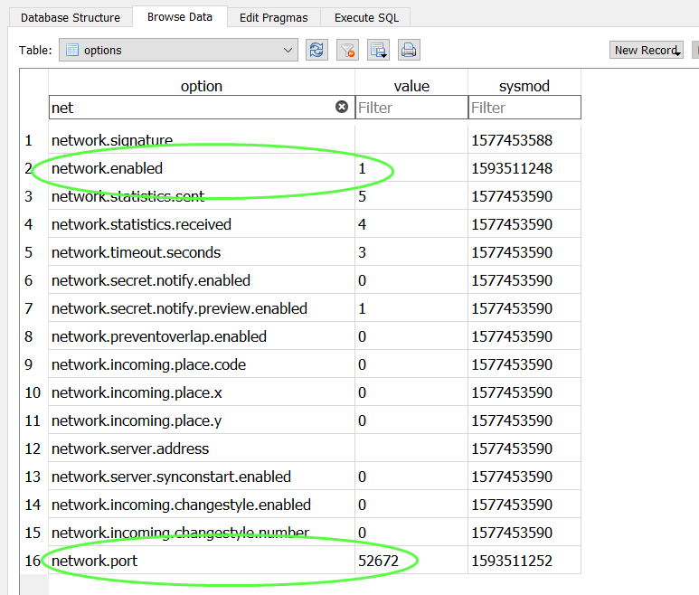 Enable networking Db11