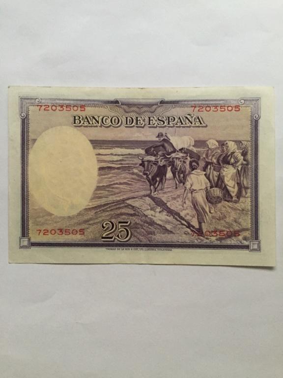 Pregunta 25 pesetas 1936 sin serie - Sorolla 69356a10