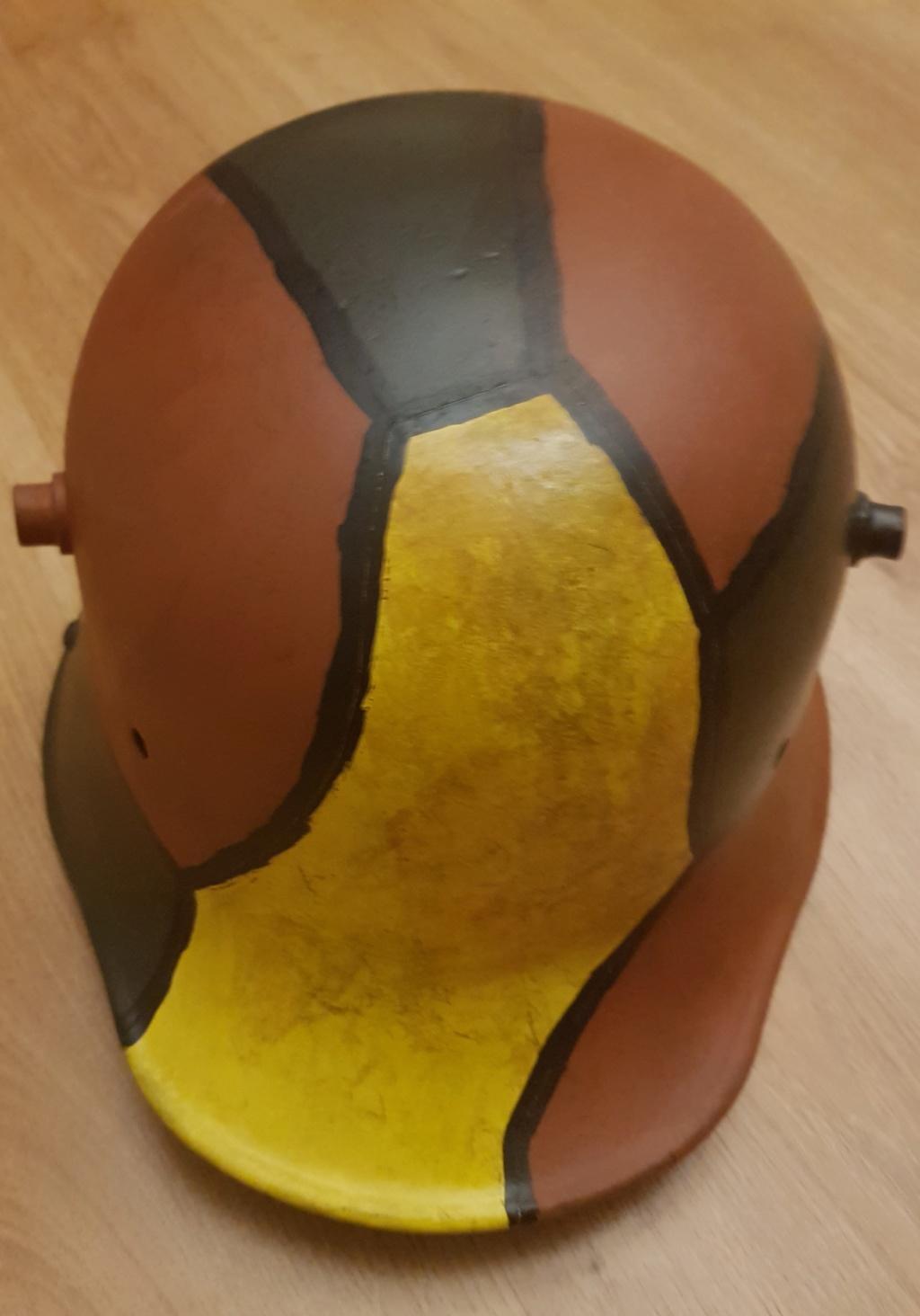 Restauration d un casque allemand de 1916 du segond type  20200418