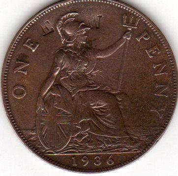IDENTIFICAR UN RESELLO EN MONEDA DE 1 PENIQUE JORGE V (1936) One_pe11