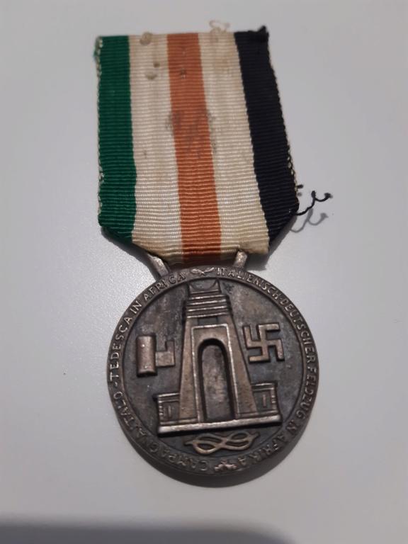 Identification medaille Afrikakorps germano italienne  20201213