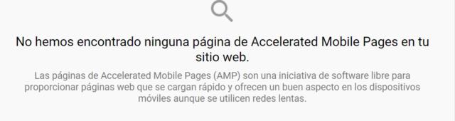 Por qué me dice que mi web no es AMP Screen64
