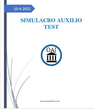 ÚLTIMO SIMULACRO AUXILIO 10 DE ABRIL. TEST + 2 SUPUESTOS PRÁCTICOS Screen82