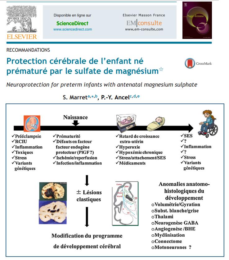 Protection cerebrale de l'enfant né prematuré par le sulfate de mg To10