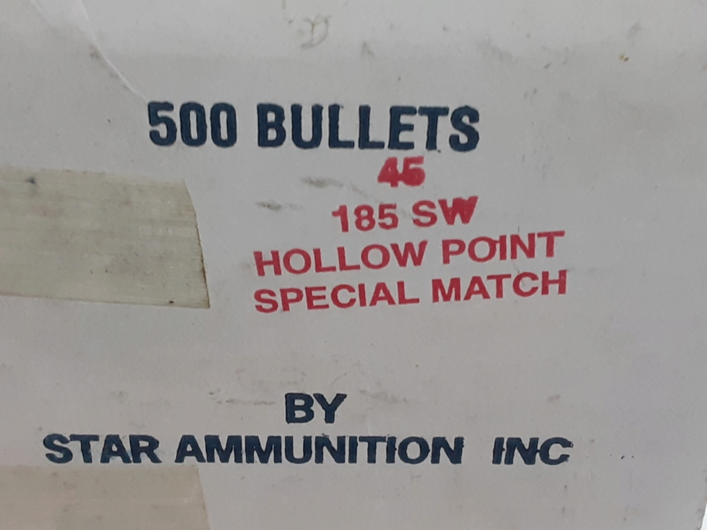 WTS Star .45cal 185 gr SW Hollow Point Special Match bullets 20201011