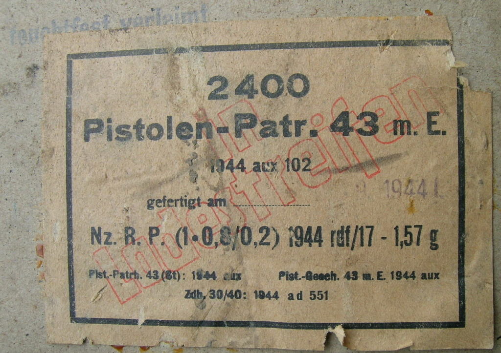 7,92 x 33 Kurz Patrone - Pistolen Patrone 43 m.E - Page 2 1944_a13