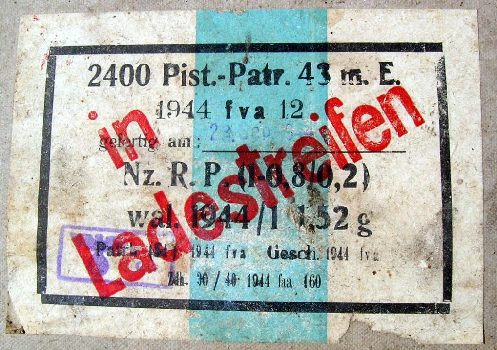 7,92 x 33 Kurz Patrone - Pistolen Patrone 43 m.E - Page 2 1944_f10