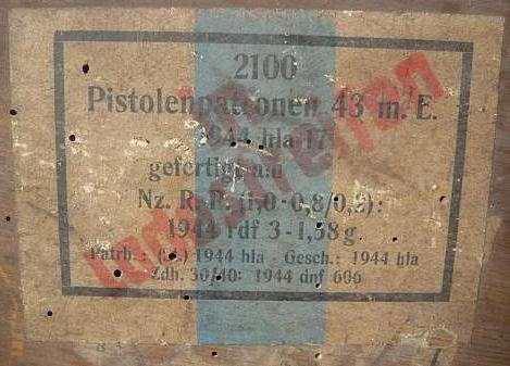 7,92 x 33 Kurz Patrone - Pistolen Patrone 43 m.E - Page 2 1944_h11