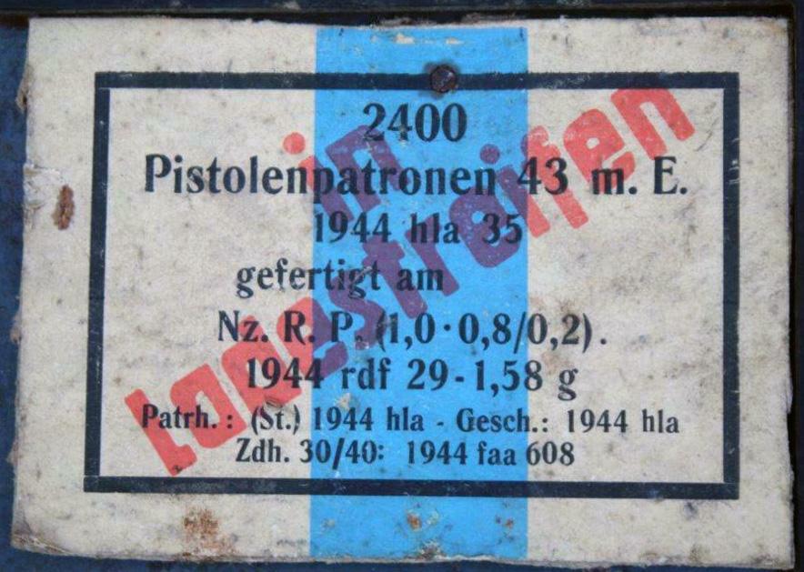 7,92 x 33 Kurz Patrone - Pistolen Patrone 43 m.E - Page 2 1944_h13
