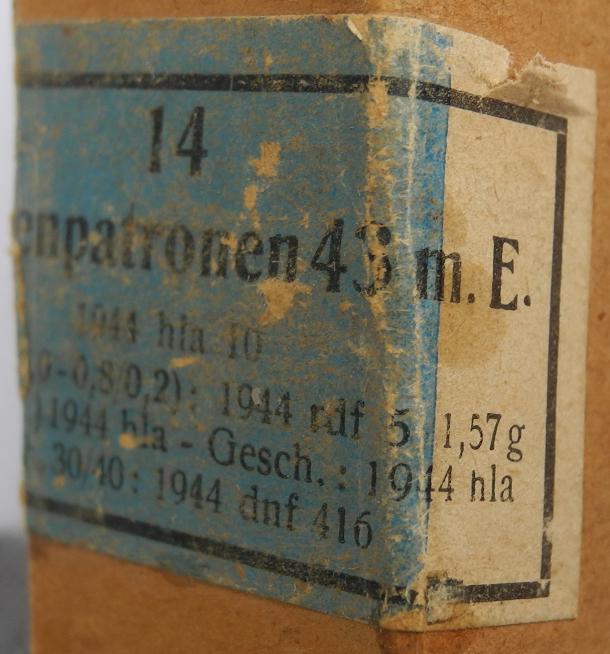 7,92 x 33 Kurz Patrone - Pistolen Patrone 43 m.E - Page 2 1944_h14