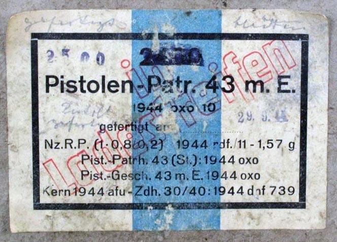 7,92 x 33 Kurz Patrone - Pistolen Patrone 43 m.E - Page 2 1944_o10