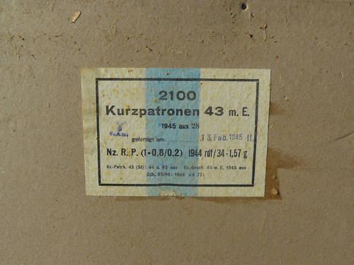 7,92 x 33 Kurz Patrone - Pistolen Patrone 43 m.E - Page 2 1945_a11