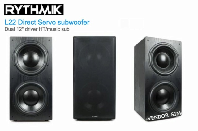 "Rythmik L22 Dual 12"" Driver HT/music Direct Servo subwoofer 112"